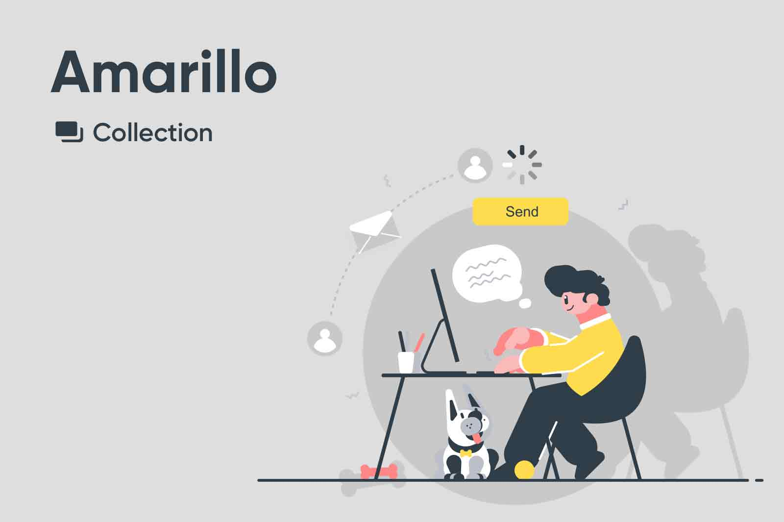 Simple yet informative illustrations made with limited color pallet and kind characters.