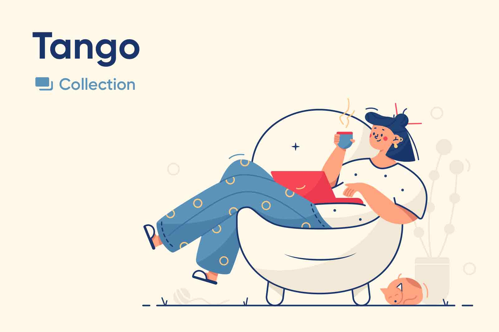 Charismatic and fun character illustrations make in line style. Vector illustrations.