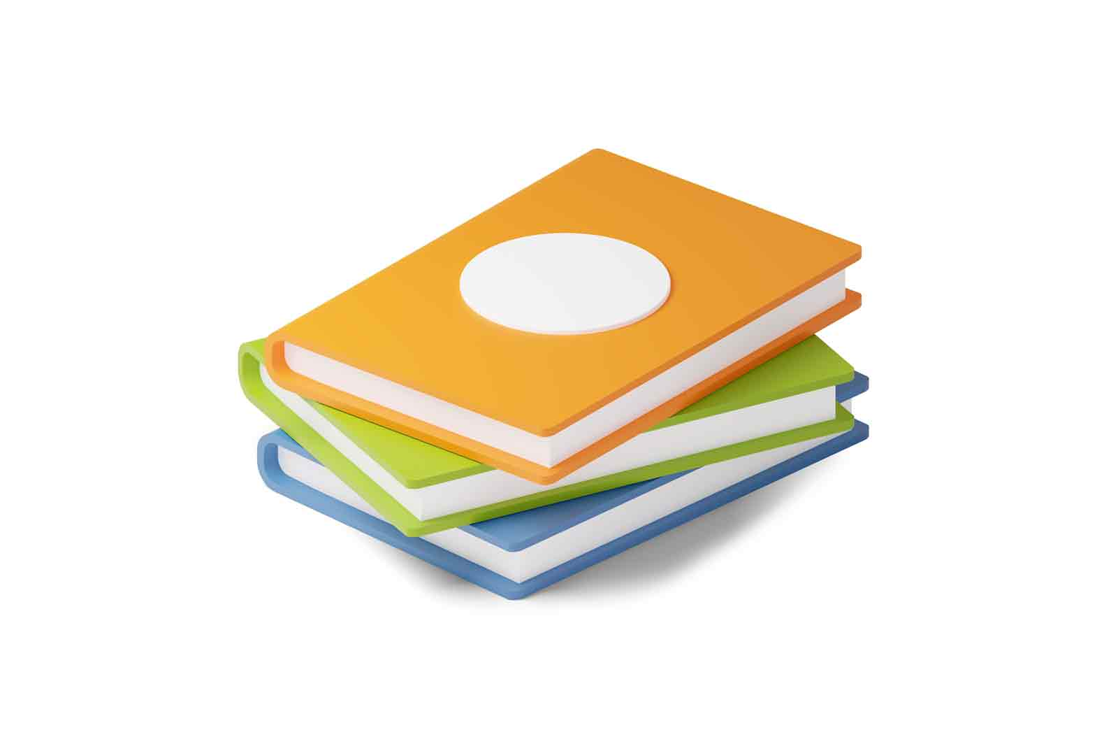 Stack of colourful books 3d illustration. Isometric pile of textbooks for learning. Concept of studying, back to school or reading