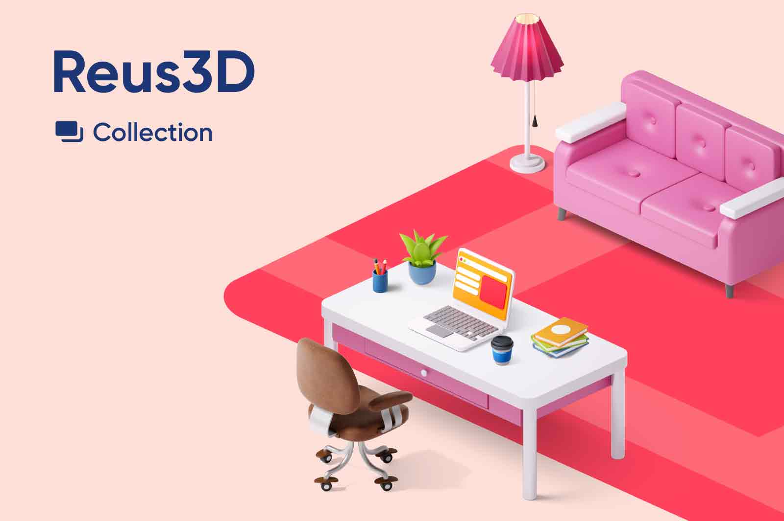 Reus3D - collection of 3d isometric objects for everyday life.