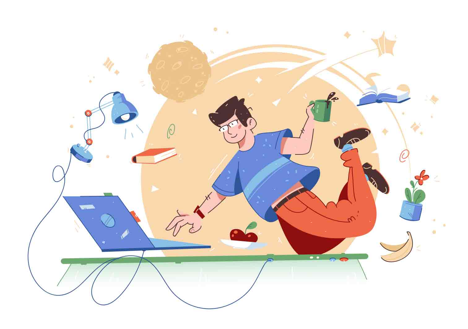 Fun and engaging illustrations on various themes. Vector character illustrations.