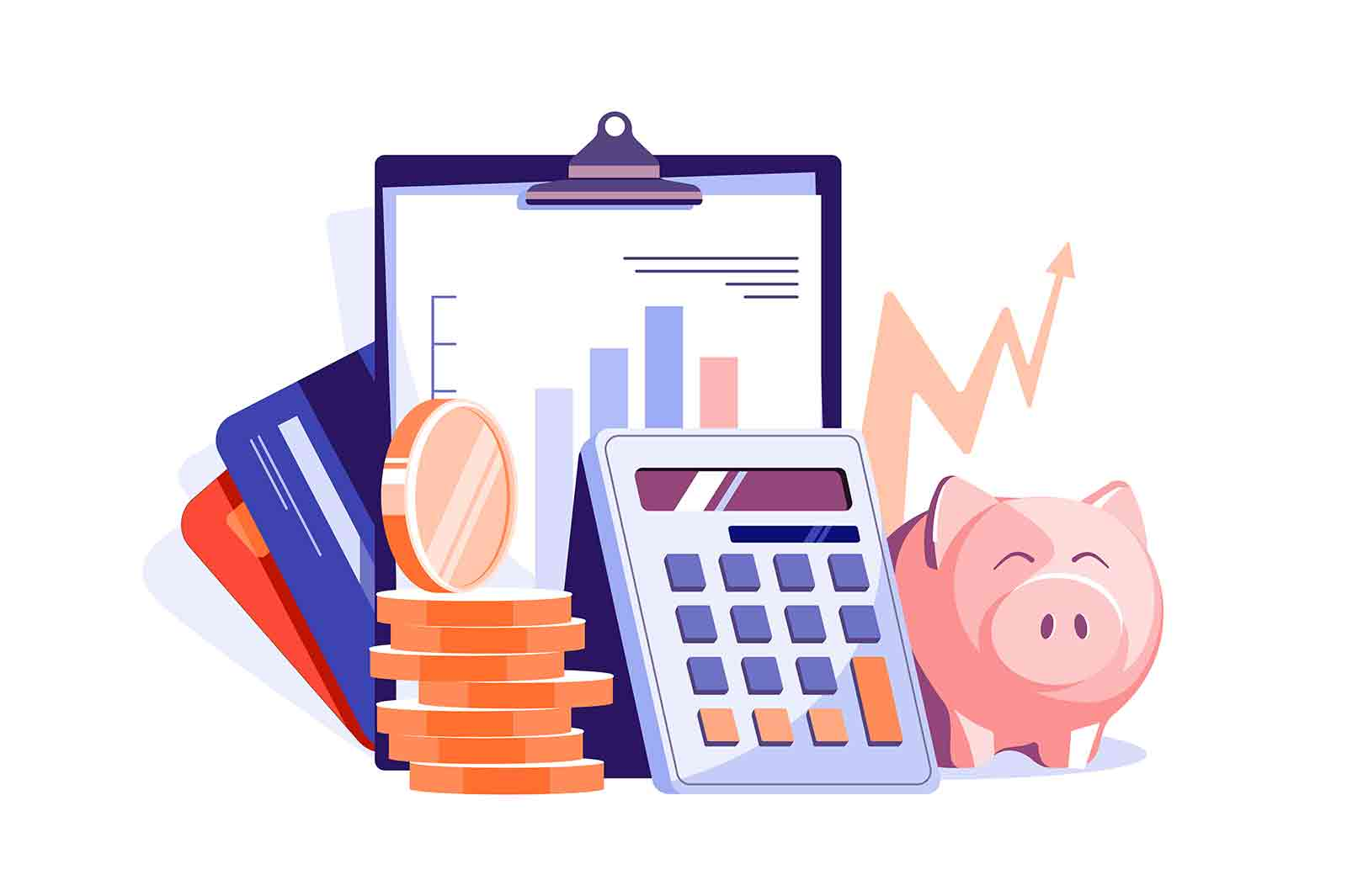 Maintain financial statements of company vector illustration. Financial tax report flat style. Accounting, finance audit, business concept
